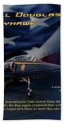 Blue Angels Ta-4j Skyhawk Beach Towel