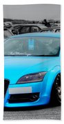 Blue Audi Beach Towel