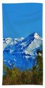 Blue Autumn Sky Beach Towel