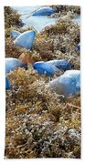 Seeing Blue At The Beach Beach Towel by Karen Zuk Rosenblatt