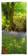 Blue Bells  Flower Beach Towel