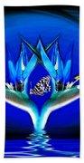 Blue Bird Of Paradise Beach Towel