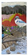 Blue Birds Beach Towel