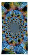 Blue Bling Beach Towel