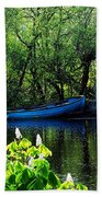 Blue Boat Cong Ireland Beach Towel