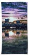 Blue Bridge At Sunset Beach Towel