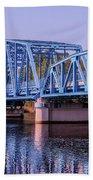 Blue Bridge Georgia Florida Line Beach Towel