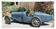 Blue Bugatti Oldtimer Beach Towel