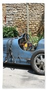 Blue Bugatti Oldtimer Beach Towel