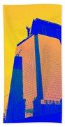 Blue Building Beach Towel