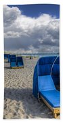 Blue Cabana Beach Towel