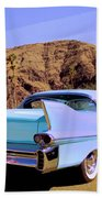Blue Cadillac Beach Towel