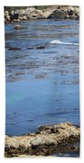 Blue California Bay Beach Towel