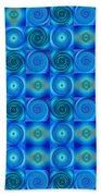 Blue Circles Abstract Art By Sharon Cummings Beach Towel