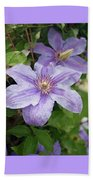Blue Clematis Beach Towel