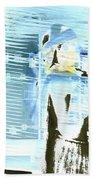 Blue Collage Beach Towel