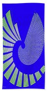 Blue Colored Metal Panel Tempe Center For The Arts Abstract Beach Towel