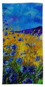 Blue Cornflowers Beach Towel
