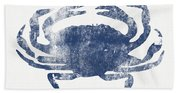 Blue Crab- Art By Linda Woods Beach Towel