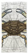 Blue Crab Beach Towel by Charles Harden