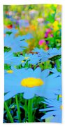 Blue Daisy Beach Towel