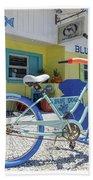 Blue Dog Matlacha Island Florida Beach Towel