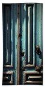Blue Door. Essaouira. Morocco Beach Sheet