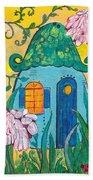 Blue Door Fairy House Beach Towel