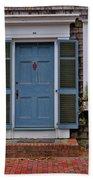 Nantucket Blue Door Beach Sheet