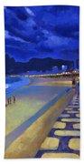 Blue Dusk Ipanema Beach Sheet