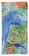Blue Elephant Squirting Water Beach Towel