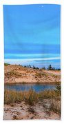Blue Evening In Ludington State Park Beach Towel