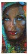 Blue Eyes Dark Oriental Beach Towel