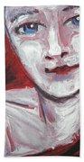 Blue Eyes - Portrait Of A Woman Beach Sheet