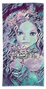 Blue Fairy Princess Beach Towel