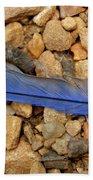 Blue Feather Beach Towel