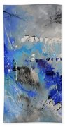 Blue Flight Abstract Beach Towel