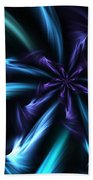 Blue Floral Fractal 12-30-09 Beach Towel
