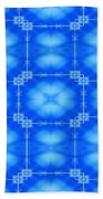Blue Flowers Abstract Beach Towel