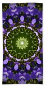 Blue Flowers Kaleidoscope Beach Towel