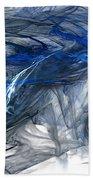 Blue Fractal Storm Beach Towel