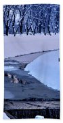 Blue Frozen River Beach Towel