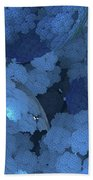 Blue Fungi Beach Towel