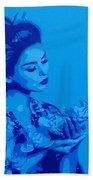 Blue Geisha Beach Towel