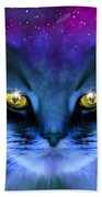 Blue Ghost Cat Beach Towel