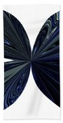 Blue, Green And Black Butterfly Astract Beach Towel