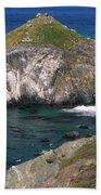 Blue Green Seas - Highway One Beach Towel