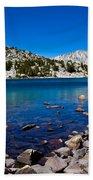 Blue Green Treasure Lake Beach Towel