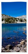 Blue Green Treasure Lake Beach Sheet