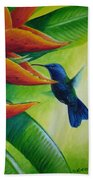 Blue-headed Hummingbird Beach Towel